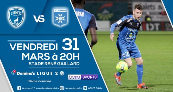 Affiche match contre Auxerre
