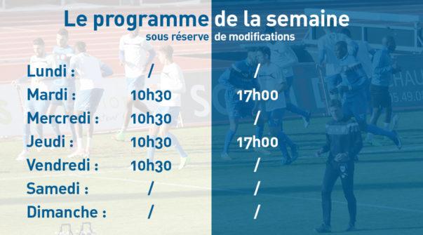 Programme de la semaine 28.08