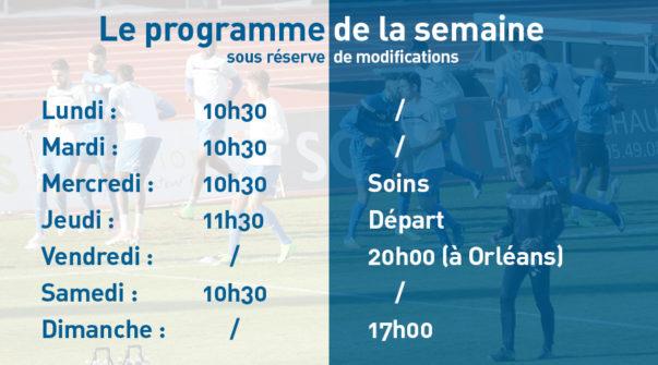 Programme de la semaine 11.09