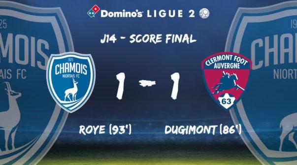 Score à domicile vs Clermont