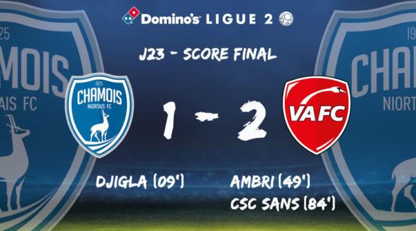 Score à domicile vs VAFC