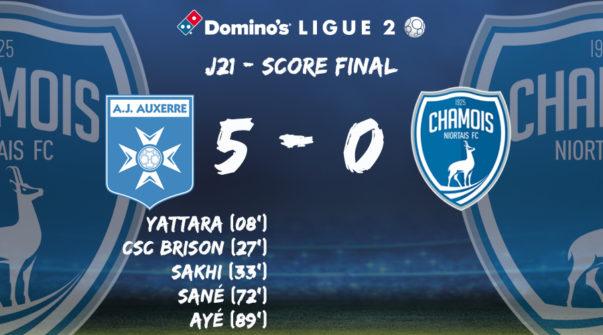 Score final à Auxerre