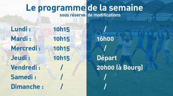 Programme de la semaine 12.03.3018