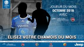 Élection Chamois du Mois Octobre 2018